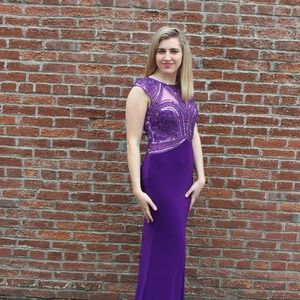 Tony Bowls Size 2 Purple Prom Pageant